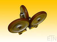 Оликовая направляющая RFG 3, Bock алюминий, 3 x колесики ø 200 x 30 мм, шариковые подшипники SKF / FAG, мягкие валики, покрытия Vulkollan 80 °
