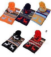 Зимняя шапка и шарф AL7970,вязаний комплект,в Украине