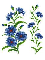 """Схема для вышивки на водорастворимом флизелине """"Узор - цветы"""""""