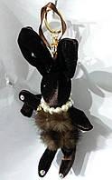 172 Модные брелоки куклы, игрушки брелки- кукла заяц, брелки для сумок и ключей оптом