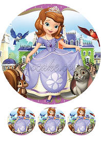Круглые картинки принцесса София