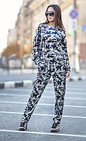 Женский велюровый спортивный костюм со стразами Military (разные цвета)