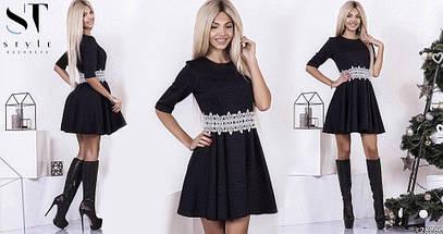 Сукня №3617Р (р-н. 42-44,44-46) Тканина:трикотаж 3D. Кольори в асортименті, фото 3