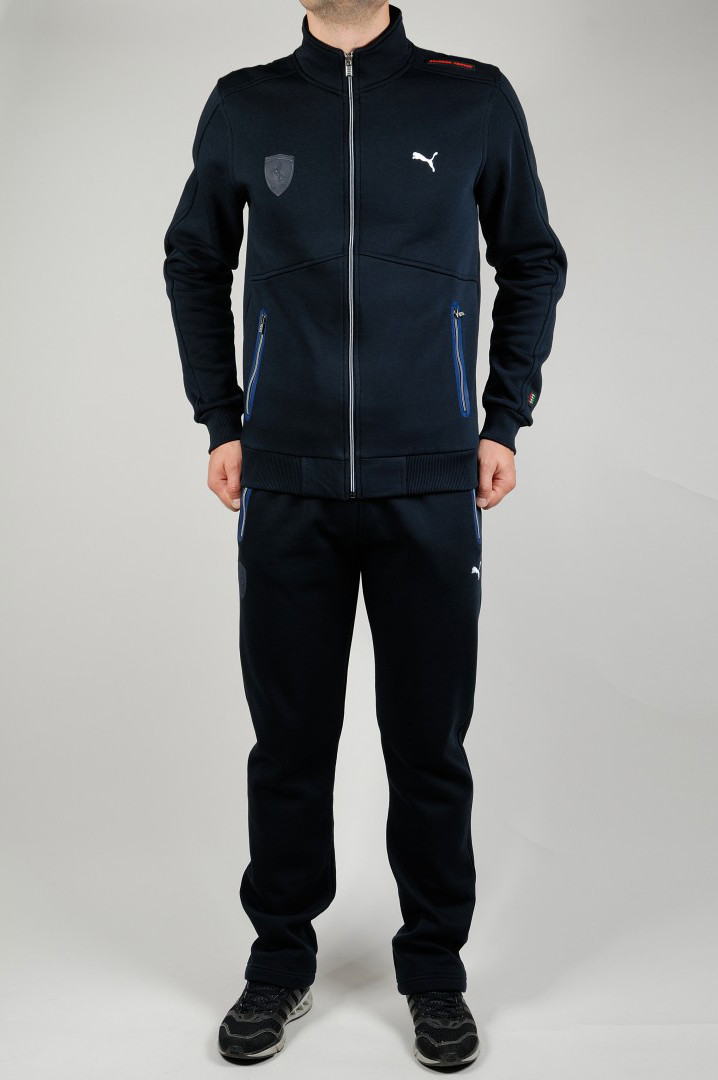 959ff3d22d69 Зимний спортивный костюм PUMA FERRARI 21264 темно-синий - купить по ...