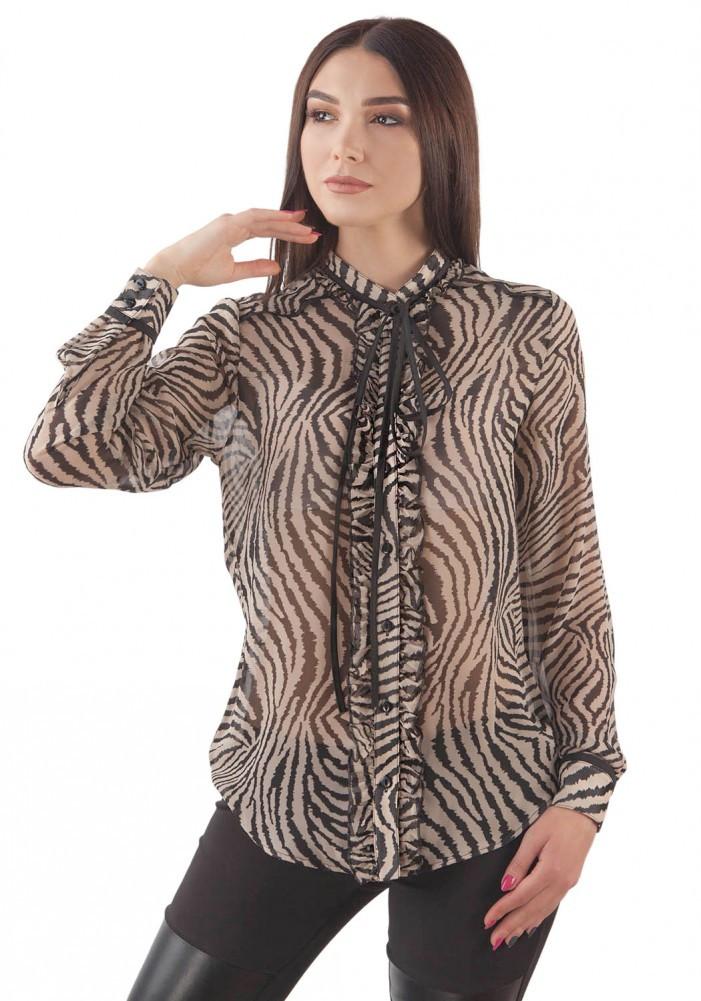 Модная шифоновая блузка