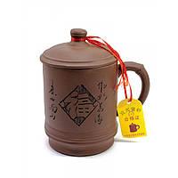 Чашка заварочная с крышкой глиняная