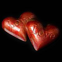 """Шоколадные конфеты ручной работы """"Молочное сердце"""", 1 шт, 20 г."""