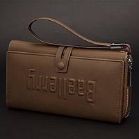 Мужской кошелек клатч портмоне Baellerry S1393 коричневый