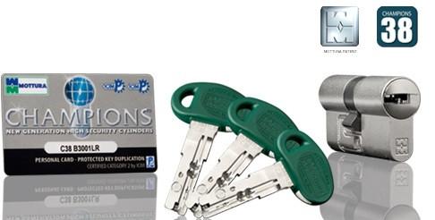 Цилиндр MOTTURA C38D414601C5 Ключ/ключ