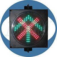 Светофор Т4 реверсивный односекционный 300 мм светодиодный