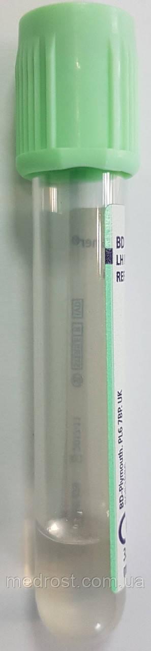 Пластиковые пробирки BD Vacutainer® PST™ II, со светло-зеленой крышкой BD Hemogard™, 3мл, 13x75мм