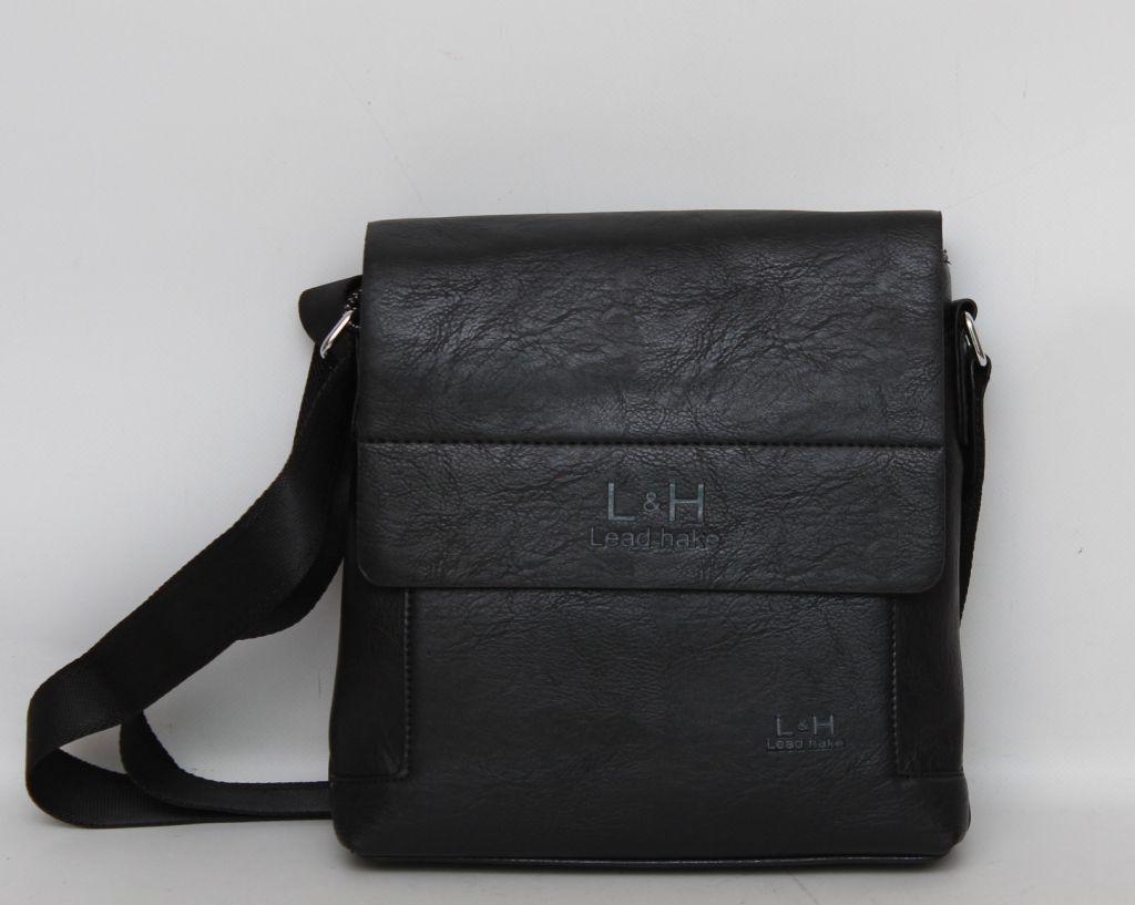 ba15aa747dff Представительная оригинальная классическая мужская сумка через плече L & H. Хорошее  качество. Код: