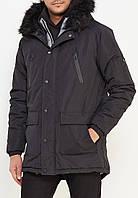 Парка\куртка D-Struct - Thornate 22 черная на меховой подкладке (мужская/чоловіча) Зима