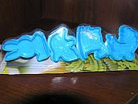 Набор форм-плунжеров Детство для печенья,мастики(с прессом) 4шт.