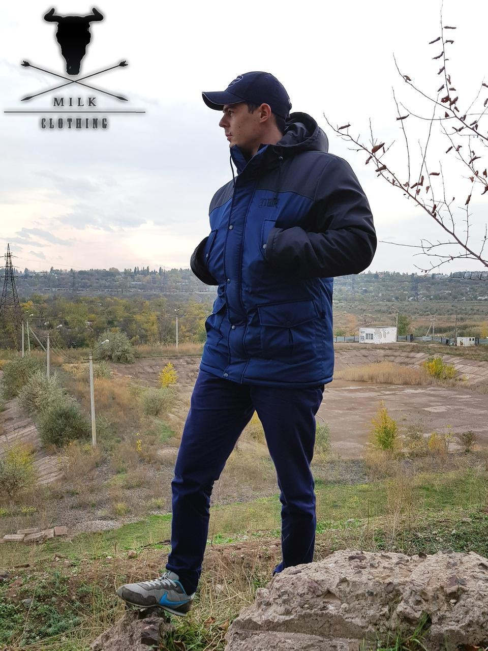 Зимняя парка\куртка Milk Clothing - Classic Black/Navy (мужская) Зима Теплая