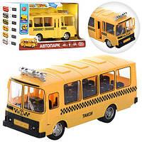 Машина 9714Е Автобус-такси  звук,свет Автопарк