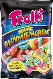 Жевательные конфеты Trolli кислые червячки 200g, фото 2