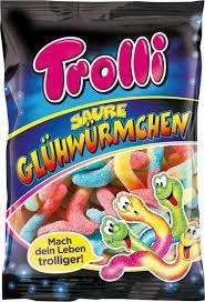 Жевательные конфеты Trolli кислые червячки 200g