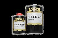 Грунт акриловый KDS Filler 4+1 Premium (серый) 1л