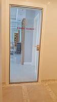 Офисные стеклянные двери в алюминиевой раме