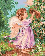 "Картины по номерам ""Ангел со щенком"" [40х50см, Без Коробки]"