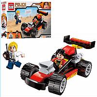 Детский Конструктор 1904 BRICK Гоночная Полиция, Лего 1904 Гоночная машина полиция