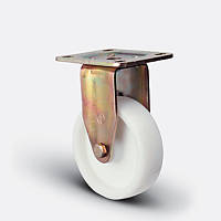 Неповоротное колесо диаметром 125 мм из полиамида с шариковым подшипником нагрузка 400 кг