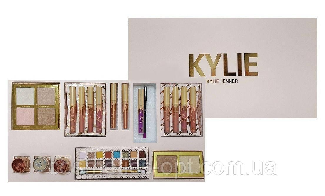 Подарочный набор декоративной косметики Kylie Jenner (Бежевый) (реплика)