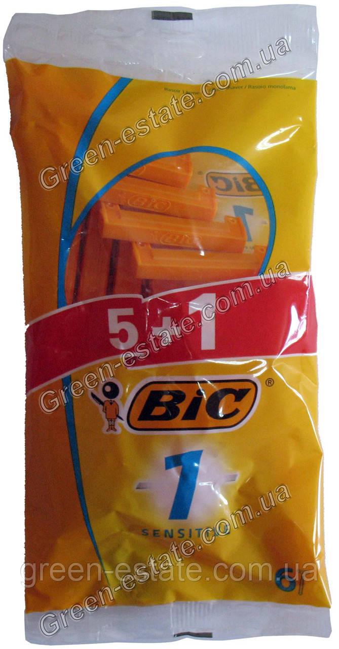 "Станки для бритья sensitive ""Bic"", 5+1 шт"