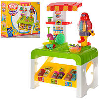 Набор столик + пластилин 8 цветов аппарат-пресс,инструменты и формочки в коробке