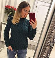 """Модный и теплый женский свитер """"Зеленый лес"""""""