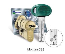 Цилиндр MOTTURA C38F414101C5 Ключ/поворотник