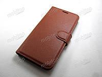 Кожаный чехол книжка Nokia 5 (коричневый), фото 1