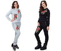 Женский теплый  спорт костюм с цветами