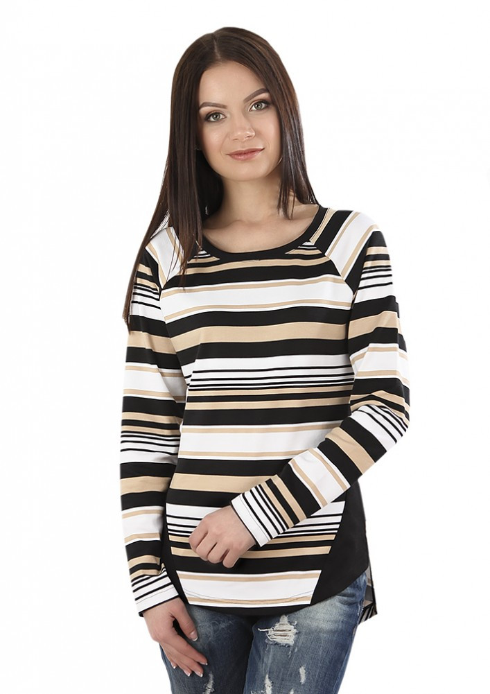 Смугаста жіноча блуза