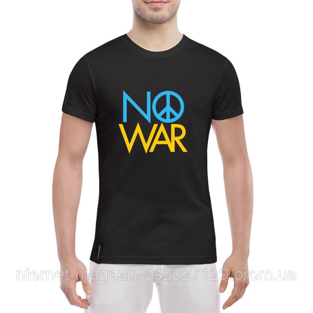 Футболка с принтом NO WAR