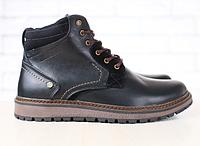 Мужские кожаные отличного качества зимние ботинки Multi Shoes Black
