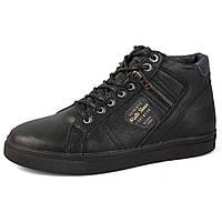 Зимние мужские  кожаные  ботинки Multi Shoes Black , фото 1