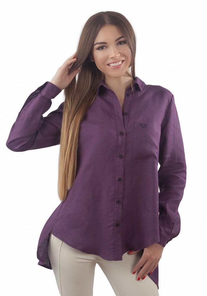 Необычная стильная льняная блуза, сзади на запах. Разные цвета