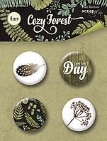 Скрап-фишки Cozy Forest, 4 шт
