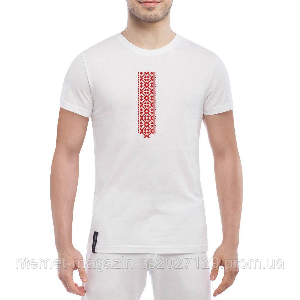 Мужская футболка вышиванка - футболка патриотическая