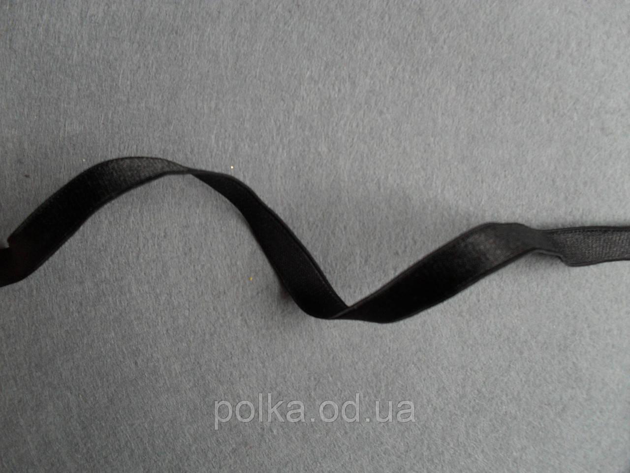Бретель гумка, ширина 1см, колір чорний/ білий/бежевий/ коричневий/блакитний/рожевий (1уп=46м)