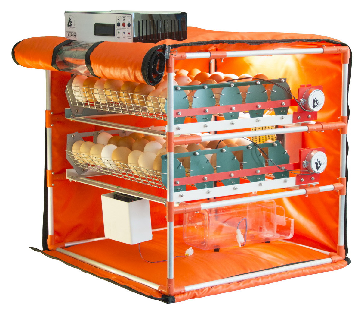 Автоматический инкубатор-конструктор (220V) на 90 яиц, с увлажнителем,  WI-FI, автопереворотом