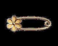 Золотая булавка Цветок