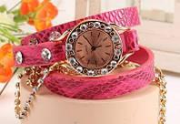 Часы-браслет на кожаном ремешке купить Киев