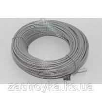 Трос (сталь оцинкованная) d1,6 мм, 100м/б (только бухтами)