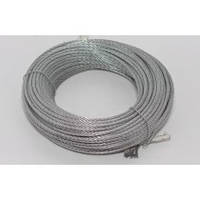 Трос (сталь оцинкованная) d1,8 мм, 100м/б (только бухтами)
