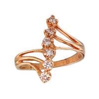 Золотое кольцо  с фианитом 16.0  кв121и