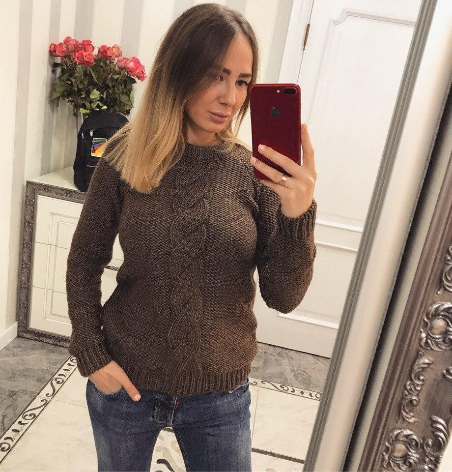 Модный, стильный, теплый женский свитер
