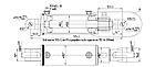 Гидроцилиндр сеялки (с гайкой) ГЦ-100.40.200.001.22, фото 2